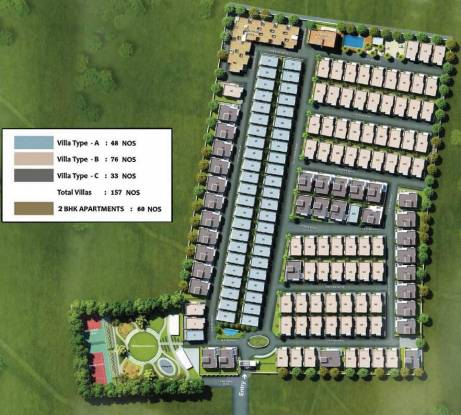 Casagrand Eternia Villas II Layout Plan