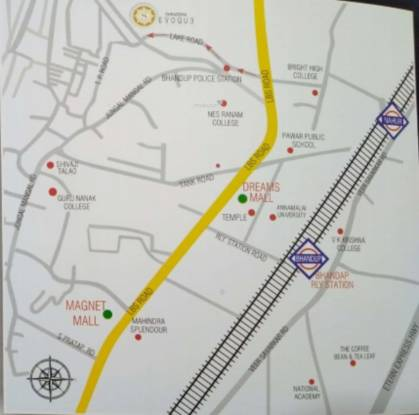 evoque Location Plan