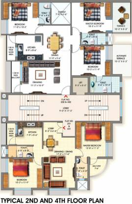 Maharshee Shashi Sharad Apartments Cluster Plan