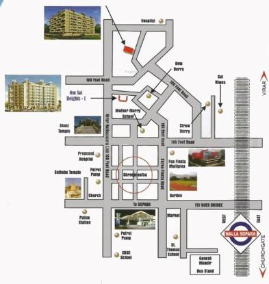 Sai Om Sai Heights Location Plan