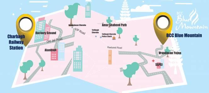 Shri Balaji BCC Blue Mountain Location Plan