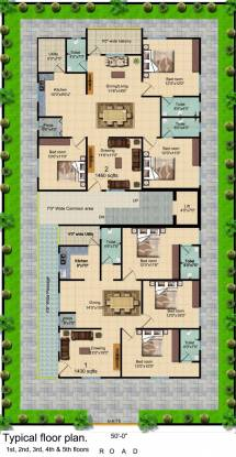 GSV Residential Apartment At Nagole Cluster Plan