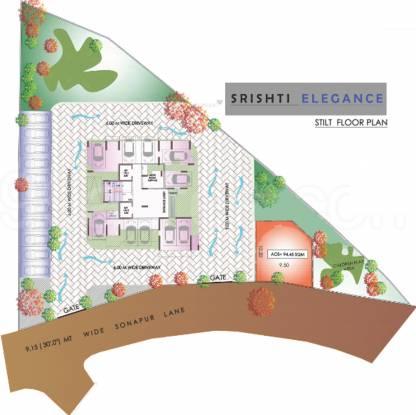 Srishti Elegance Cluster Plan