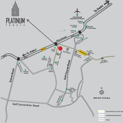 Suncity Platinum Towers Location Plan