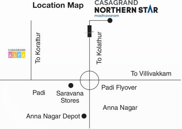 Casagrand Northern Star Location Plan