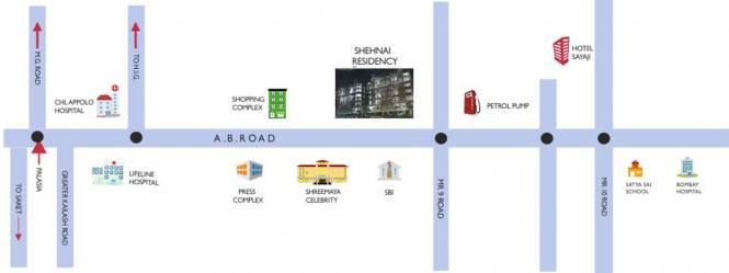Shekhar Shehnai Residency Location Plan