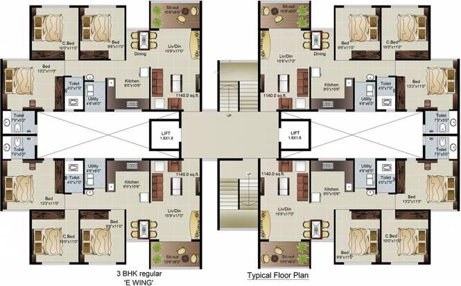 Jaikumar Parksyde Homes Cluster Plan