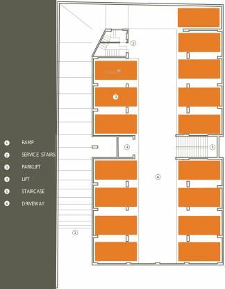 Olive Brick Home Cluster Plan