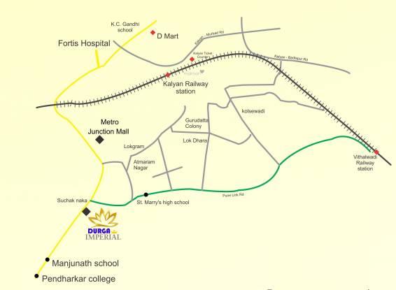 G K Mali and C K Mali Durga Imperial Location Plan