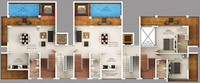 Rio Luxury Homes Sky Villas Cluster Plan