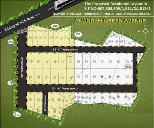 Sterling Anandam Green Avenue Layout Plan