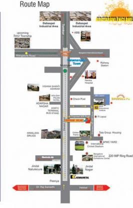 Bhagini Udaya Ravi Enclave Location Plan