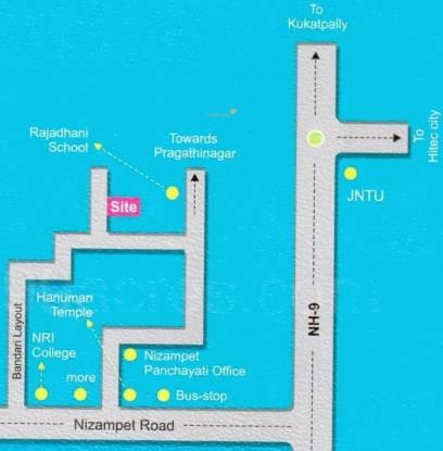 Lahari Satyam Heights Location Plan