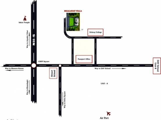 Penguin Bhagawat Villa Location Plan