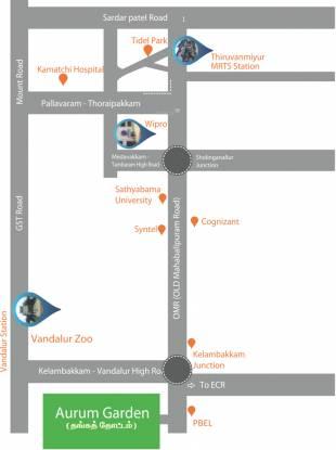 AM Lands And Property Developers Aurum Garden Location Plan