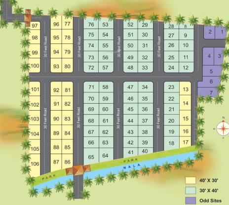 7 Hills Siddalingeshwara Green Garden Layout Plan