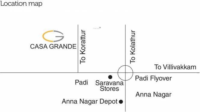 Casagrand Asta Location Plan