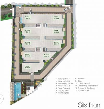 Jain Ravi Gayathri Heights Site Plan