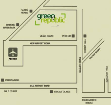 Samrat Green Republic Location Plan