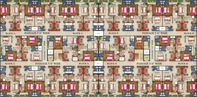 Aasra Aditya Apartment Unione Residency Cluster Plan