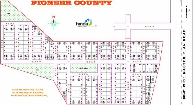 Bhashyam Pioneer County Layout Plan