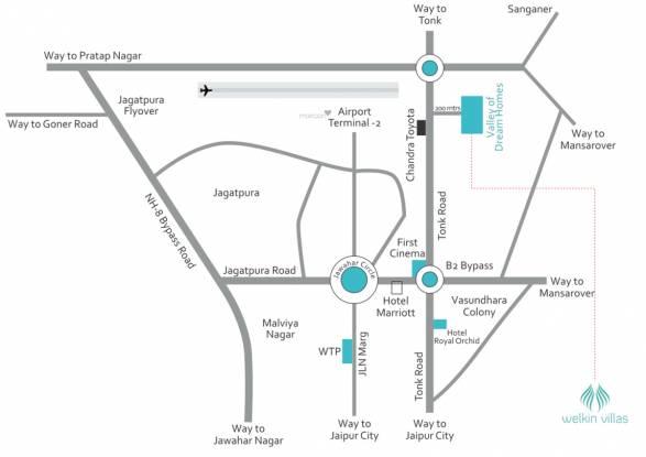 Ruby Welkin Villas Location Plan