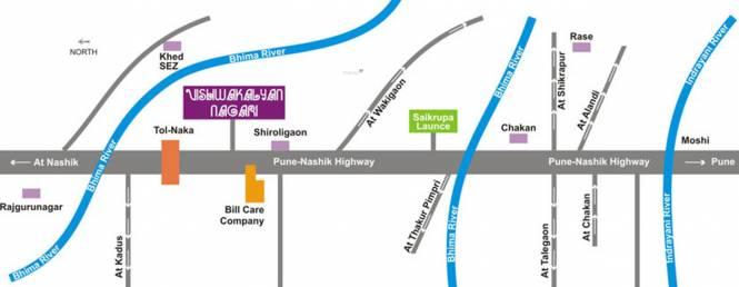 Saikrupa Vishwa Kalyan Nagari Location Plan