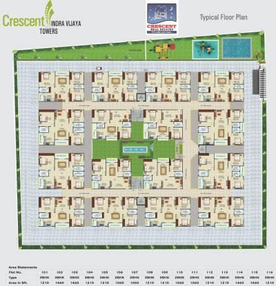 Crescent Indra Vijaya Towers Cluster Plan