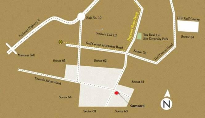 Adani Brahma Samsara Location Plan