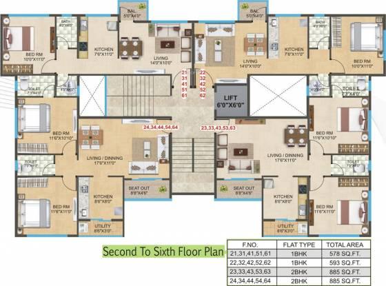 City Godavari Residency Cluster Plan