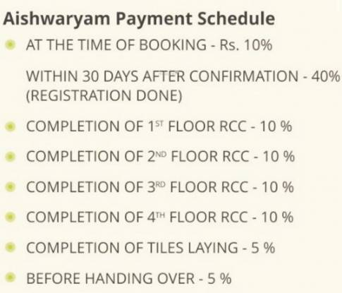 VSK Aishwaryam Payment Plan