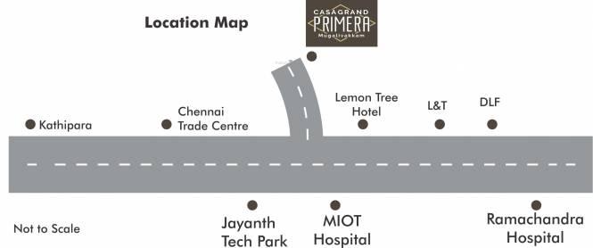 Casagrand Primera Location Plan