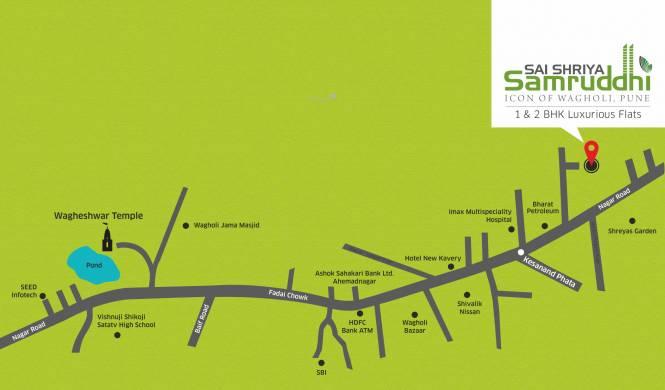Sai Shriya Samruddhi Location Plan