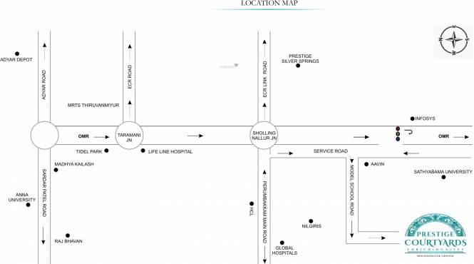 Prestige Courtyards Location Plan