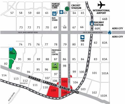 Emaar Mohali Hills Plot Location Plan
