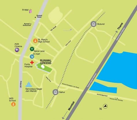 Runwal Runwal Greens Wing 5 To 8 Location Plan