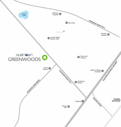 Hubtown Greenwoods A Wing Location Plan