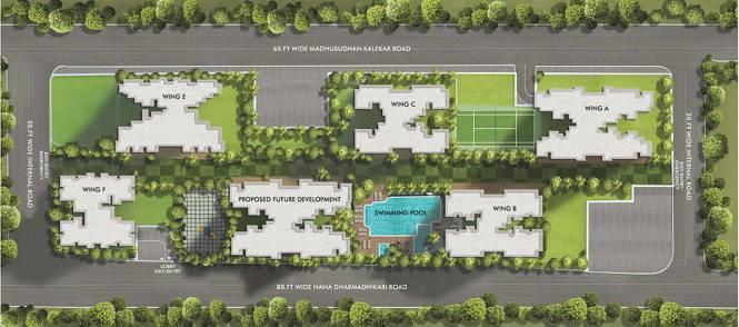 Rustomjee Seasons Wing B Layout Plan