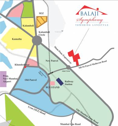 Space Balaji Symphony Phase 3 Location Plan