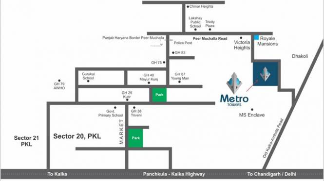 MP Metro Towers Features For A Richer Life Villa Location Plan