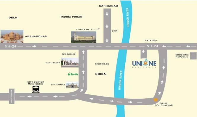 Vikram Unione Residency Location Plan