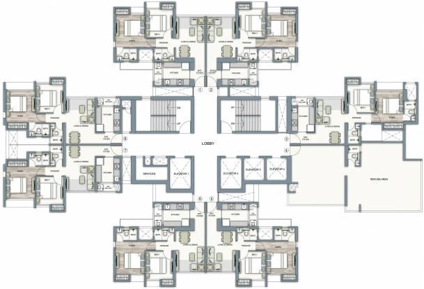 Piramal Vaikunth Cluster 4A Cluster Plan