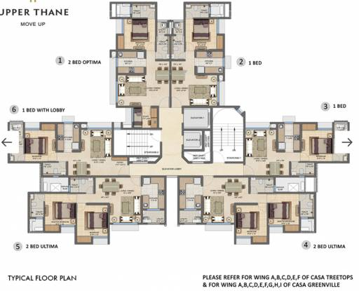 Lodha Upper Thane Treetops A To F C1 C2 Cluster Plan