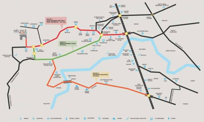 Rama Melange Residences Phase II Location Plan