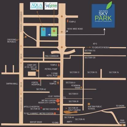 Shri Shri Radha Sky Park Location Plan