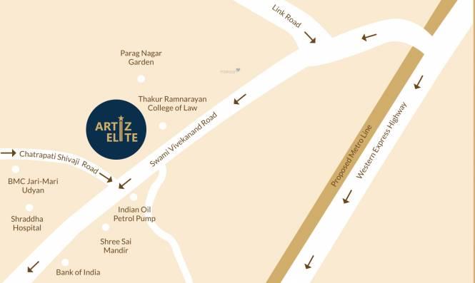 Buildtech Artiz Elite Location Plan