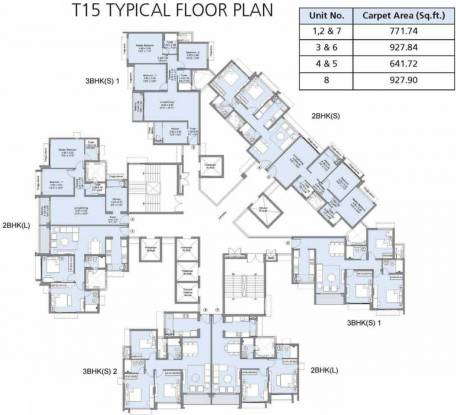 L And T Emerald Isle T15 Cluster Plan