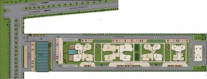 Barnala Green Lotus Avenue Layout Plan