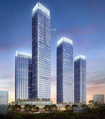 Indiabulls Blu Tower D Elevation