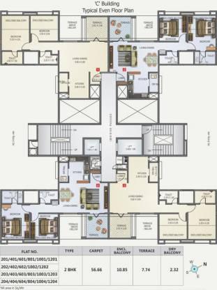 Kunal Iconia Phase II Cluster Plan